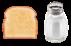 Ein Toast und ein Salzstreuer - Das Logo von brot & salz