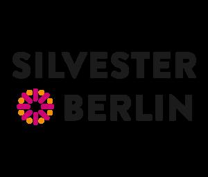 Das Logo für Silvester Berlin: In Blockschrift werden die Wörter